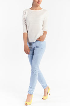 Голубые брюки с карманами TOM FARR со скидкой