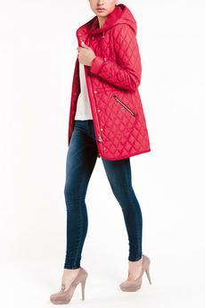Красная куртка с капюшоном TOM FARR