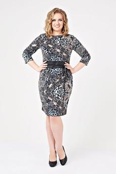 Платье с поясом-кушаком Paola Rossi