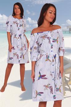 Летнее платье с поясом Натали